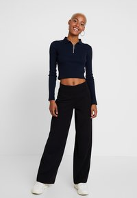 Gina Tricot - JENNER TROUSERS - Trousers - black - 1