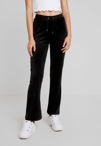 Gina Tricot - CECILIA TROUSERS - Tracksuit bottoms - black - 0