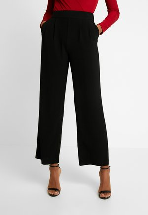 BONNIE TROUSERS - Pantalon classique - black