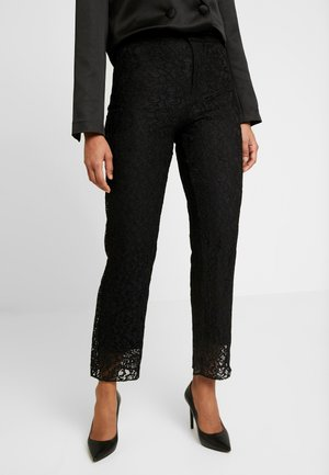 EXCLUSIVE LUCY TROUSERS - Pantalones - black
