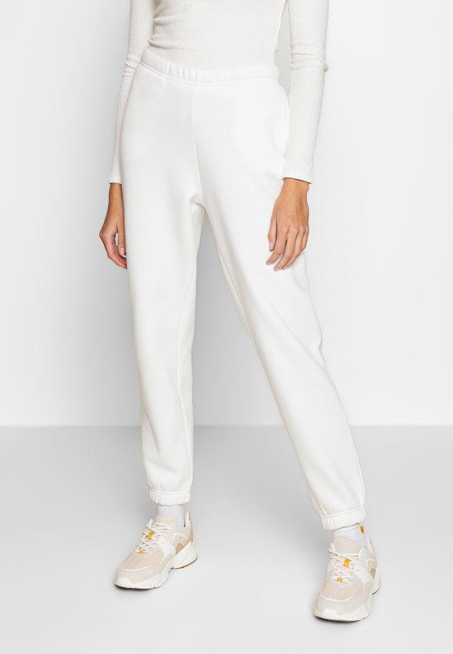 BASIC - Teplákové kalhoty - off white