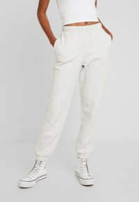 Gina Tricot - BASIC - Spodnie treningowe - light grey melange - 0