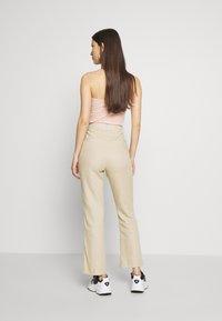 Gina Tricot - LISA  - Trousers - light linen beige - 2