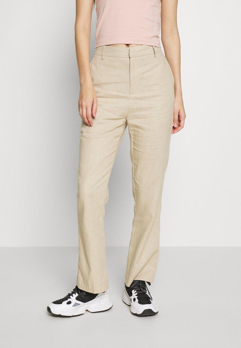 Gina Tricot - LISA  - Trousers - light linen beige