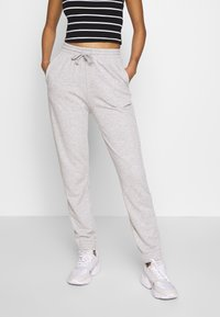 Gina Tricot - ABIGAIL - Pantalon de survêtement - grey melange - 0