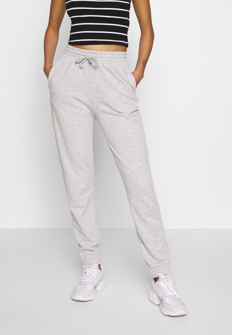 Gina Tricot - ABIGAIL - Pantalon de survêtement - grey melange