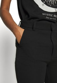 Gina Tricot - STRETCH TROUSERS - Tygbyxor - black - 4