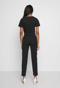 Gina Tricot - STRETCH TROUSERS - Tygbyxor - black - 2