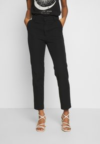 Gina Tricot - STRETCH TROUSERS - Tygbyxor - black - 0