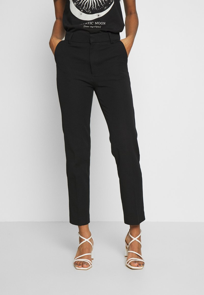Gina Tricot - STRETCH TROUSERS - Tygbyxor - black
