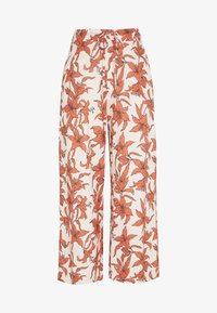 Gina Tricot - JANIKE CULOTTE TROUSERS - Pantalon classique - off-white/red - 0