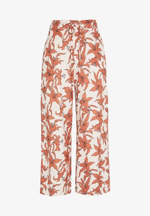 JANIKE CULOTTE TROUSERS - Kalhoty - off-white/red