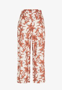 Gina Tricot - JANIKE CULOTTE TROUSERS - Pantalon classique - off-white/red - 1