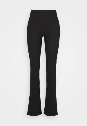 MY SLIT TROUSERS - Kalhoty - black