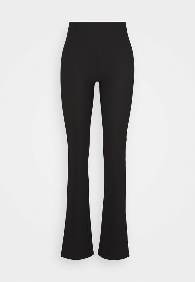 MY SLIT TROUSERS - Tygbyxor - black