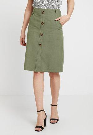 PINAR SKIRT - Pouzdrová sukně - deep lichen