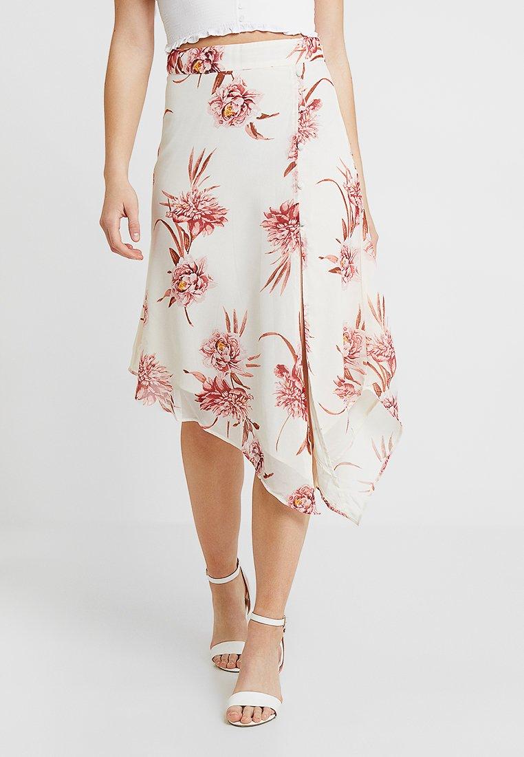 Gina Tricot - ELNA SKIRT - A-snit nederdel/ A-formede nederdele - offwhite/pink