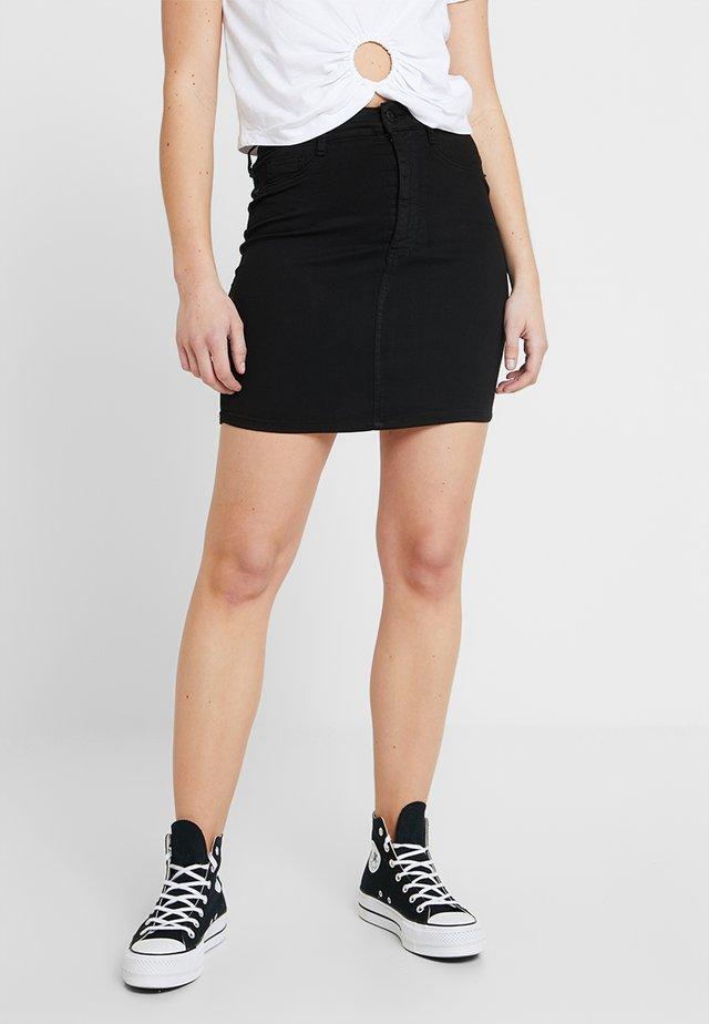 MOLLY SKIRT - Denimová sukně - black