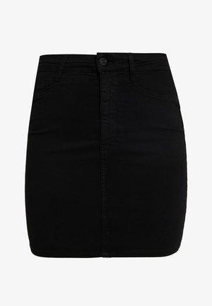 MOLLY SKIRT - Denim skirt - black