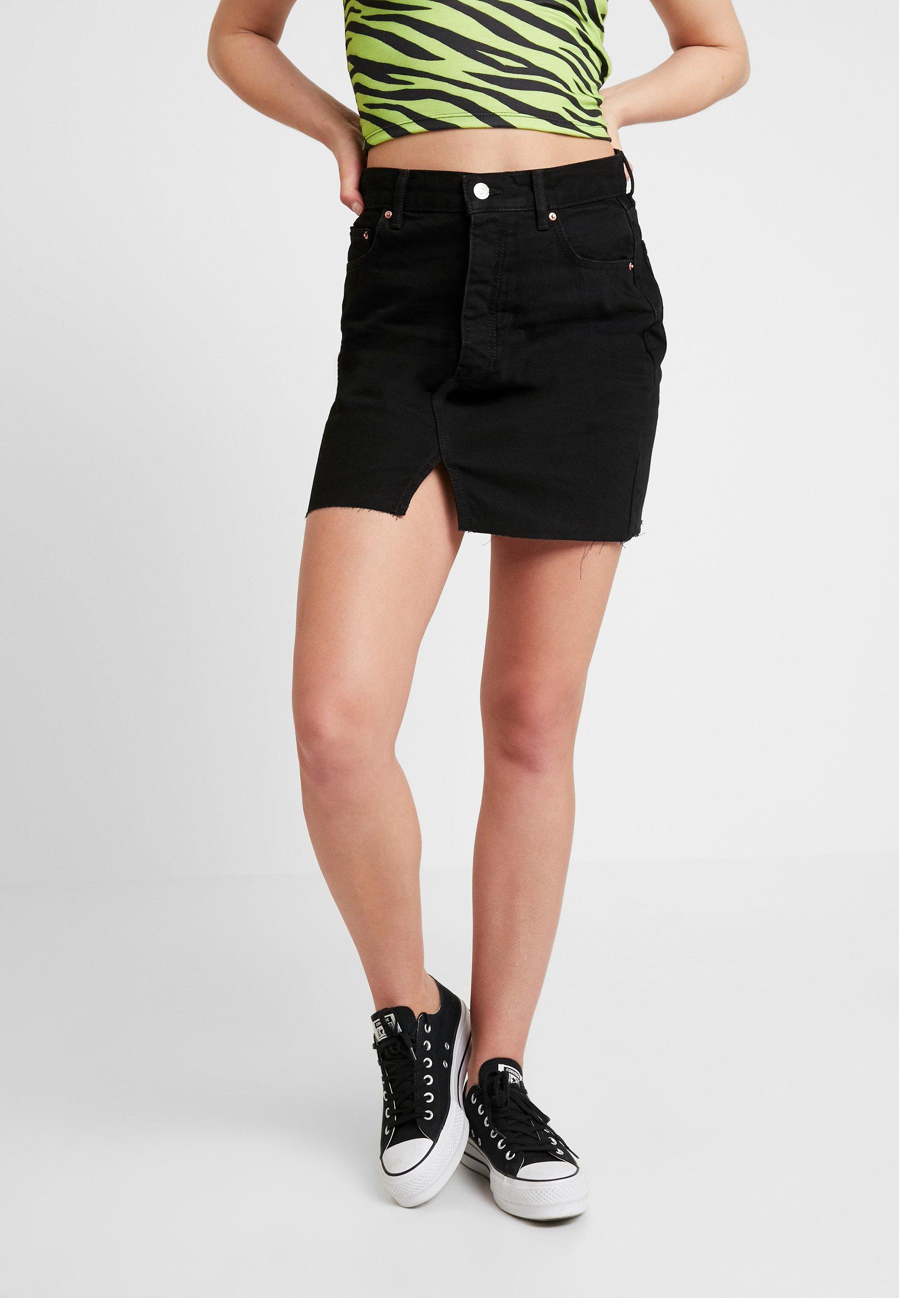 Black Gina En Tricot Original SkirtJupe Jean MVzqUpS
