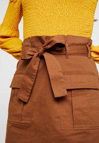 Gina Tricot - Spódnica mini - soft brown - 4