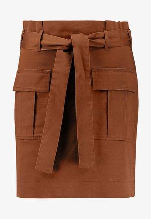 Mini skirt - soft brown