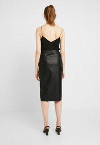 Gina Tricot - SAMANTHA SKIRT - Pencil skirt - black - 2