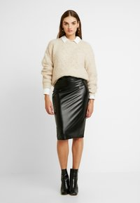 Gina Tricot - ANDREA SKIRT - Pencil skirt - black - 1