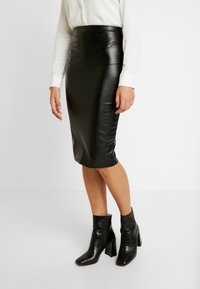 Gina Tricot - ANDREA SKIRT - Pencil skirt - black - 0