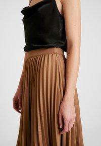 Gina Tricot - PAULINA SKIRT - A-line skjørt - camel beige/brown - 4