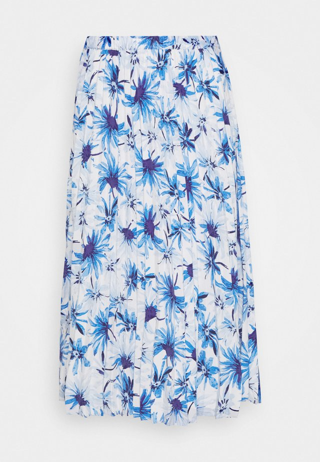 SARINA PLEATED SKIRT - A-linjekjol - white/blue