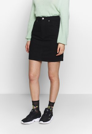 MOM SKIRT - A-linjekjol - black