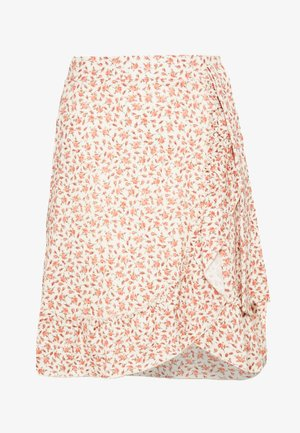 PEG SKIRT - A-line skirt - beige/red