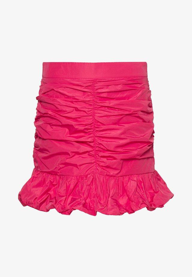 TAFFETA SKIRT - Minikjol - hot pink