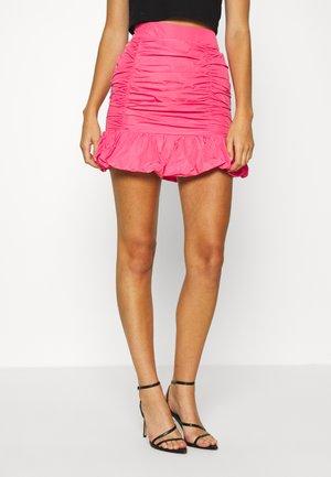 TAFFETA SKIRT - A-Linien-Rock - hot pink