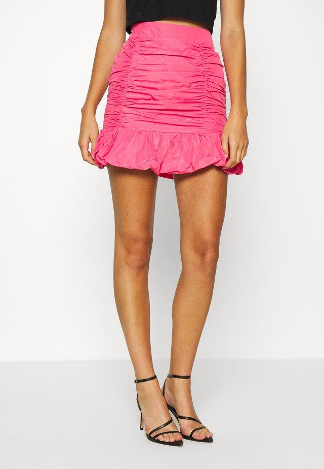 TAFFETA SKIRT - A-snit nederdel/ A-formede nederdele - hot pink