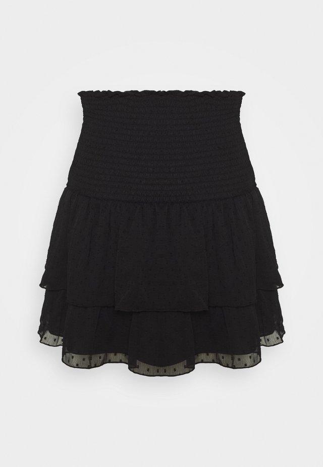 LIZETTE SMOCK SKIRT - Spódnica trapezowa - black