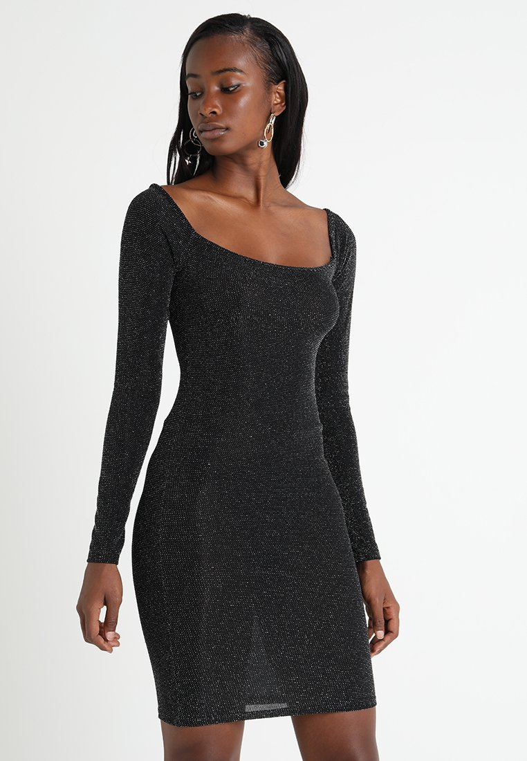 Gina Tricot - KIRI GLITTER DRESS - Etuikleid - black