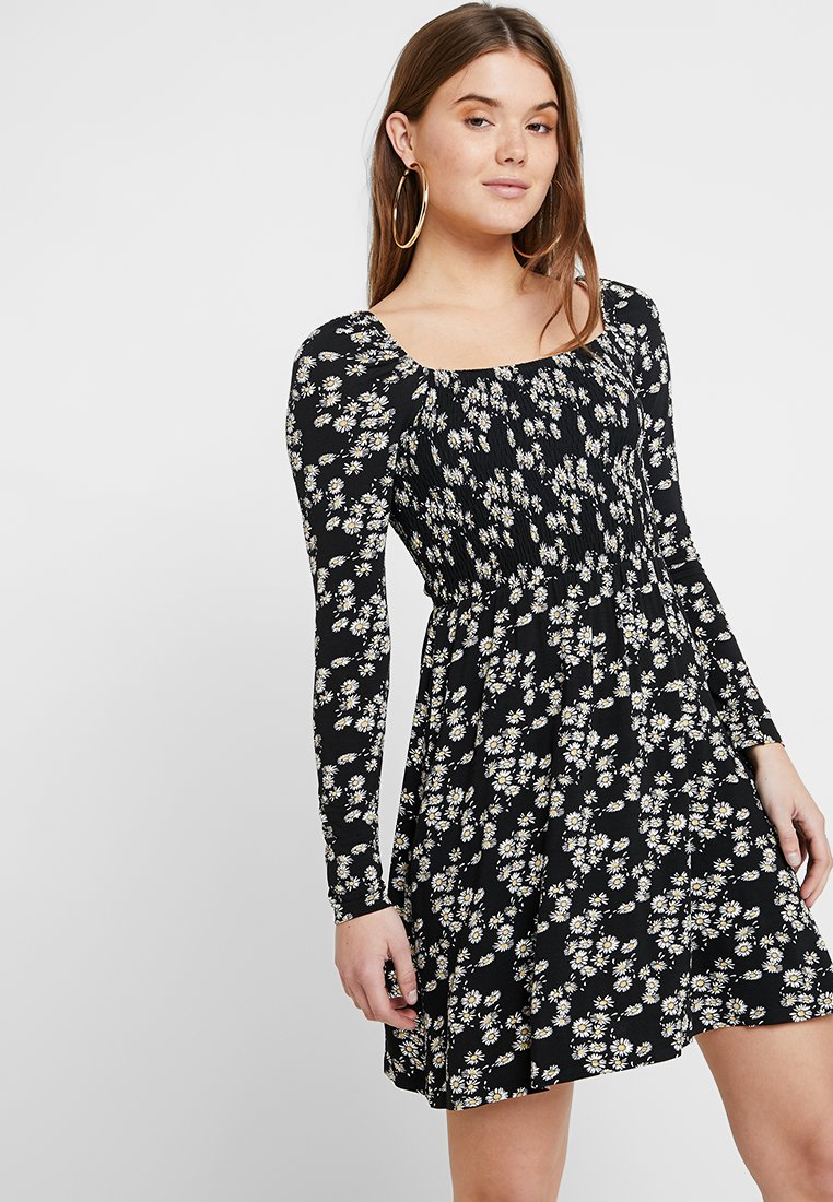 Gina Tricot - MARISSA SMOCK DRESS - Jerseyjurk - black