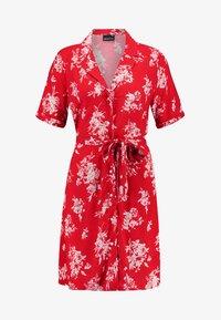 Gina Tricot - BLENDA BUTTON DOWN DRESS - Blousejurk - blossom red - 4