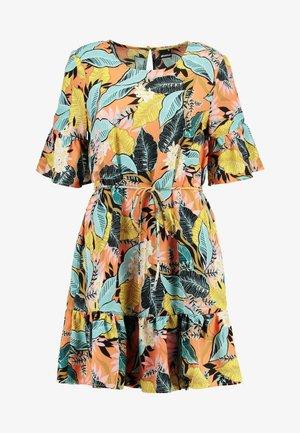 ERICA DRESS - Denní šaty - black/pink
