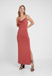 Gina Tricot - SUZY SLIP DRESS - Maxikleid - marsala - 1
