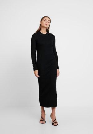 EXCLUSIVE SIGNE DRESS - Abito in maglia - black