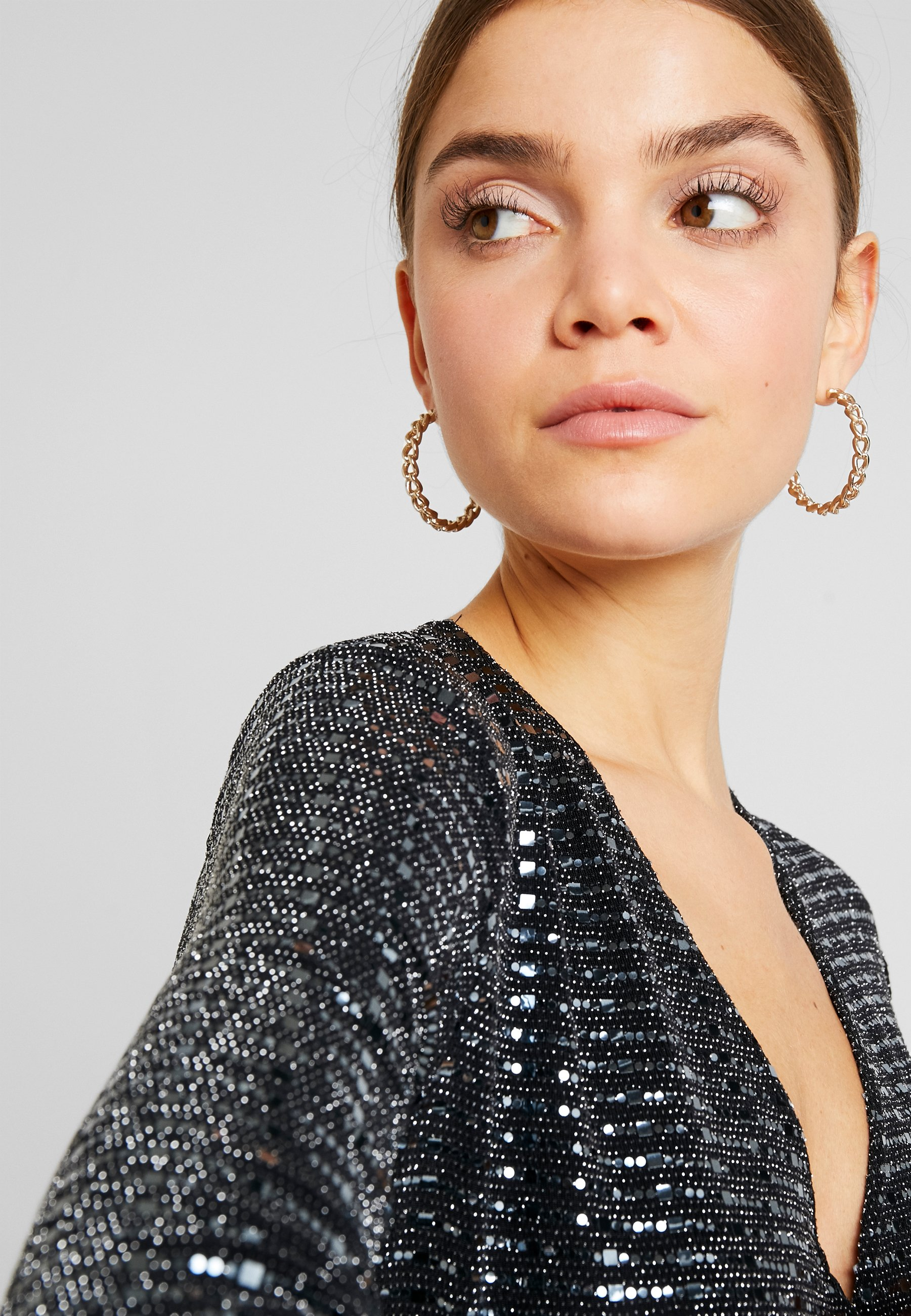 Gina Tricot MATILDI GLITTER DRESS - Sukienka koktajlowa - black