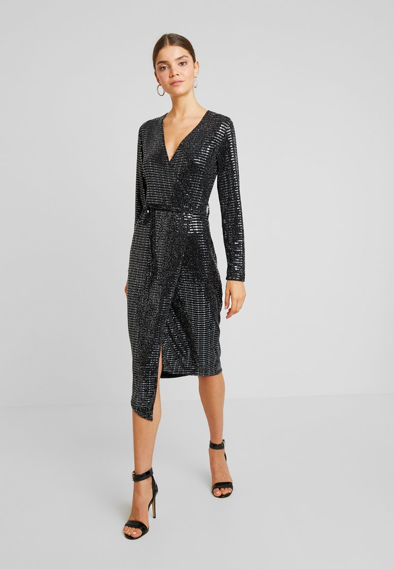 Gina Tricot - MATILDI GLITTER DRESS - Cocktailklänning - black