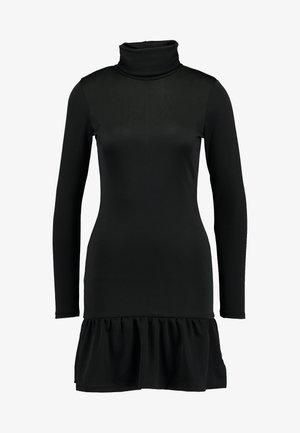 ELLINOR FRILL DRESS - Pouzdrové šaty - black