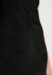 Gina Tricot - EXCLUSIVE SANDY SLIP DRESS - Korte jurk - black - 6