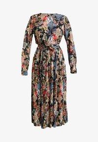 Gina Tricot - ASTRID PLEATED DRESS - Korte jurk - black/pink - 4