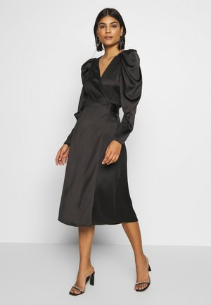 JOAN WRAP DRESS - Sukienka letnia - black