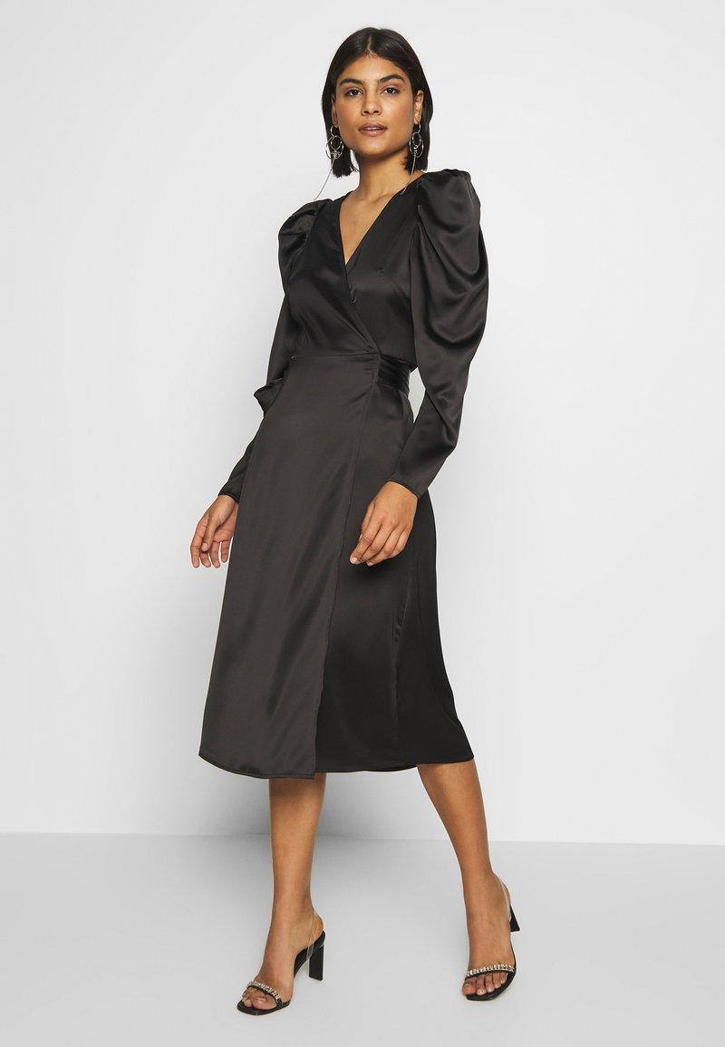 Gina Tricot - JOAN WRAP DRESS - Day dress - black